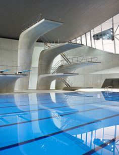 diving well, London Aquatics Centre - Architecture - Zaha Hadid Architects