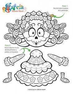 Dibujos para colorear el día de los muertos (4) Halloween Doodle, Halloween Crafts For Kids, Holidays Halloween, Fall Crafts, Holiday Crafts, Happy Halloween, Haunted Halloween, Halloween Coloring, Coloring Books