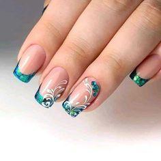 Manicure Nail Designs, Fall Nail Art Designs, Beautiful Nail Designs, Nail Polish Designs, Manicure Ideas, Gel Acrylic Nails, Square Acrylic Nails, Gel Nails, Elegant Nail Art