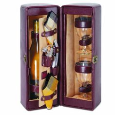 Picnic Time Harmony Single Bottle Wine Case, with Wine Service for 2, Mahogany by Picnic Time. Save 20 Off!. $57.22. Single bottle case with service for two. Available in two handsome colors. Great for parties or concerts. Deluxe wine carrier. This wine carrier makes an impressive gift. This handsome Picnic Time Harmony Wine Case features an upscale presentation in attractive faux leather, which, when unclasped, reveals a two-sided storage case to house a bottle of wine on one side, ...