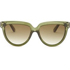 Valentino Women's Rockstud Oversized Stud Sunglasses ($70) ❤ liked on Polyvore featuring accessories, eyewear, sunglasses, dark green, retro style sunglasses, gradient lens sunglasses, uv protection sunglasses, oversized glasses and tortoise shell sunglasses