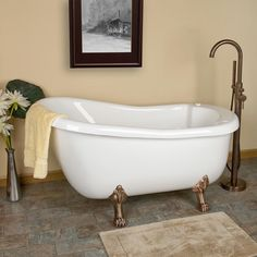 Pearson Acrylic Clawfoot Whirlpool Tub - Bathtub - Bathroom