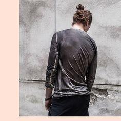 : LOST & FOUND FW16/17 grey resin coated cashmere longsleeve  #lostandfoundriadunn #lostandfoundrooms #lostandfound #riadunn #madeinitaly #fw16 #wolfensson #vienna #avantgarde #fashionwolfensson