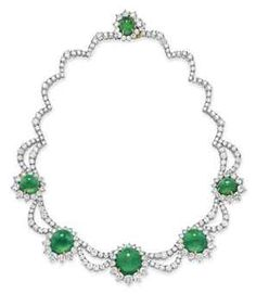 emerald and diamond necklace - Google Search