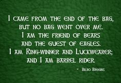 I Am Barrel Rider  #Hobbit  #Quote  #Bilbo