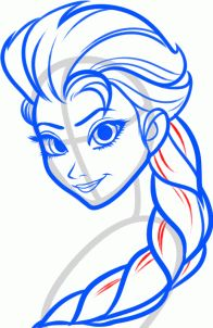 how to draw elsa, elsa the snow queen from frozen STEP 6. Add some detailing to her braid like so, then proceed to step seven.