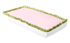 The Ivy League Pink by doodlefish, along with the Ruffled Bumperless Crib Sheet bedding accessories, are available at TinyTotties.com with the lowest prices available anywhere. #tinytotties #doodlefish