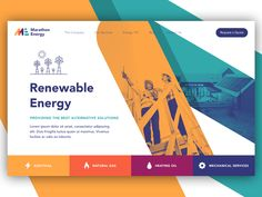 Renewable Energy ux ui logo start up illustration brand web design website landing page Ui Design Mobile, Graphisches Design, Web Design Tips, Flat Design, Travel Website Design, Web Design Trends, Graphic Design, Website Design Inspiration, Landing Page Inspiration