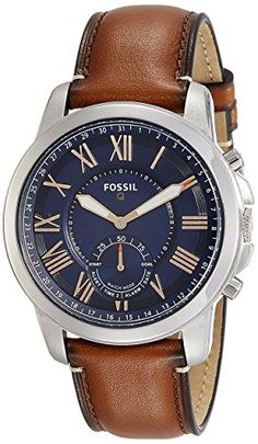Fossil FTW1122 Q Grant Gen 2 Hybrid Smartwatch Light Brown Leather ** Be sure to check out this awesome product. Note: It's an affiliate link to Amazon #mensleathersmartwatch