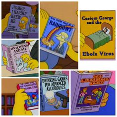 Books seen in the simpsons