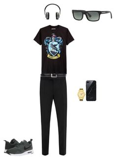 """my friend average clothes"" by jandrade218 ❤ liked on Polyvore featuring Bioworld, Alexander McQueen, Gucci, NIKE, JBW, Native Union, Master & Dynamic, Prada, men's fashion and menswear"
