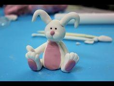 Cómo hacer figuras para tartas: conejo rosa - YouTube