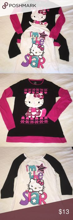 2 Hello kitty long sleeve shirts 2 hello kitty long sleeve shirts in excellent  condition no stains tears or rips Hello Kitty Tops Tees - Long Sleeve