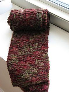 Drop Stitch Scarf by Christine Vogel. malabrigo Worsted, Stonechat color.