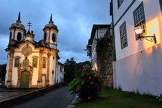 Igreja de São Francisco de Assis, de 1766, em Ouro Preto- MG