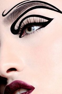 Beautiful and Creative Eyeliner designs is a collection of fashion photography that showcases some very innovative designs in Eyeliner make up to inspire. Makeup Inspo, Makeup Art, Makeup Inspiration, Beauty Makeup, Eye Makeup, Shark Makeup, Catwalk Makeup, Makeup Ideas, Eyeliner Designs