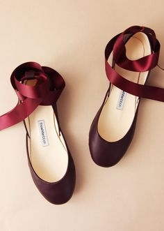 Bordeaux Leather Ballet Flats with Ankle Straps Mary Jane Flat Shoes Classic Cut and Standard Width Bordeaux Ready to Ship # Smooth Leather, Real Leather, Mary Janes, Ethical Fashion Brands, Leather Ballet Flats, Flat Shoes, Cute Shoes Flats, Ballerina Shoes, Ballet Heels