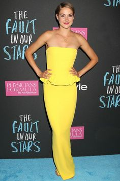 Best dressed - Shailene Woodley in a Ralph Lauren yellow dress