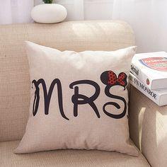 Minnie and Mickey Mouse Cushion Cover Pillowcase Home Decorative Cushion Throw Pillow Cover Fashion European Cushion