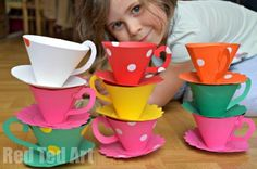 Paper Teacups & Saucers