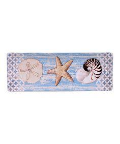 Loving this Distressed Spa Shells Rectangular Serving Platter on #zulily! #zulilyfinds