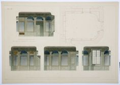 Drawing / construction plan of the cloak room of the Hallwyl museum, Sweden. Cloak Room, Sweden, Floor Plans, Museum, Construction, How To Plan, Drawings, Building, Sketches