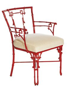 red metal Chinoiserie chair
