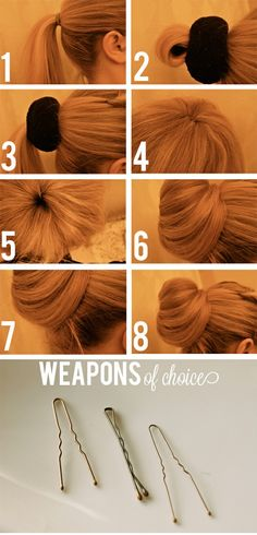 Sock bun- how to make the sock and the bun