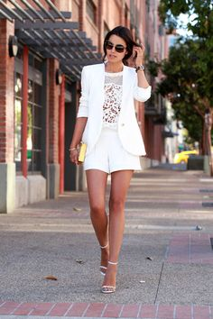 Cameo White Mesh Neckline Embroidered Lace Tank Top