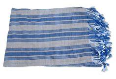 European Coastal Linen Blanket