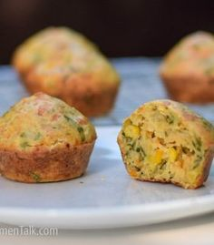 Healthy Cheese and Veggie Muffins for Toddlers