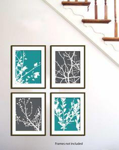Custom Nature Art Prints Loft Branches Set Of 4-5X7 Inches