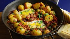 Nduja is an ingredient worth trying. The soft salami works brilliantly in making a delicious potato hash. Ham Recipes, Potato Recipes, Italian Recipes, Cooking Recipes, Recipies, Potato Hash Recipe, Serrano Ham, Cooking For Three