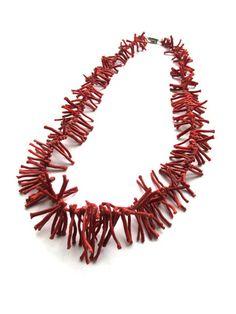 Vintage 1970's Coral Necklace