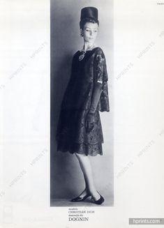 Christian Dior - Yves Saint-Laurent Printemps 1960, lace dress