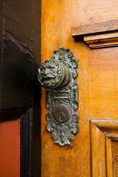Love this door fixture