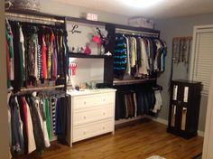 Turned a spare room into a closet!