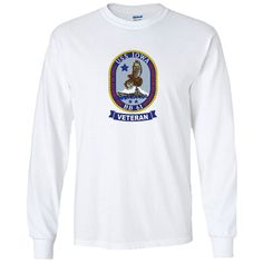 USS Iowa Veteran White Long Sleeve Shirt now available! Show your Navy Service pride with this White Performance Long Sleeve Shirt. This performance shirt features 100% Polyester antimicrobial, moisture wicking fabric that will keep you cool, dry, and comfortable. THIS IS A PERFORMANCE FABRIC SHIRT, NOT COTTON. Designed, Printed & Sublimated in the USA -Fabric Imported.