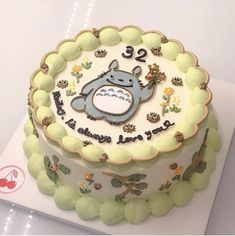 Pretty Birthday Cakes, Pretty Cakes, Pastel Cakes, Frog Cakes, Cute Baking, Gateaux Cake, Think Food, Cute Desserts, Just Cakes