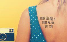 Amor eterno / tatuajes de frases