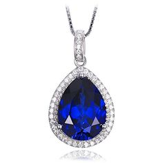 I just can't move my eyes away from it. Jewelrypalace Women's 10.46ct Created Blue Sapphire Pear ... https://www.amazon.ca/dp/B01CI6E496/ref=cm_sw_r_pi_dp_x_JjvXxb72J0STB