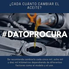 Es recomendable además revisar regularmente los niveles de aceite. #DatoProcura #ProcuraWeb #Procura #Vehículo #Repuesto