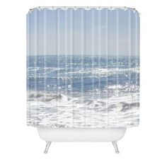 Lisa Argyropoulos Crystal Blue Shower Curtain | DENY Designs Home Accessories