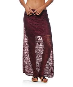 Get a classic and versatile look perfect for any occasion with this fig crochet maxi skirt that features a long and flowy fit with a built-in liner for…