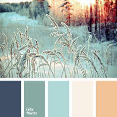 blue color, colors of snow, emerald, orange color, shades of emerald, shades of snow, snow color, winter color combination