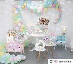 """Portal das Festas on Instagram: """"Quando a gente se apaixona, a gente posta logo  . . #Repost @donnaideia with @instatoolsapp ・・・ Cenário lindo para revelar um mundo rosa…"""""""