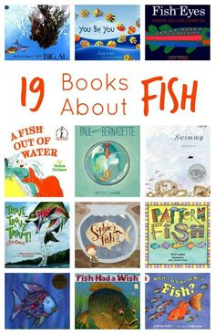19 Books About Fish. Great for kindergarten or preschool ocean units of study