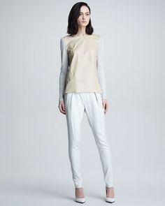 White pants suitable after labor day.