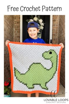 crochet dinosaur patterns My son, Mark, loves dinosaurs so I made a Dinosaur Blanket for him for his birthday! Free pattern includes a PDF chart and written instructions. Crochet Dinosaur Pattern Free, Crochet Pillow Patterns Free, Free Baby Blanket Patterns, Crochet Patterns Amigurumi, Free Pattern, Crochet C2c Pattern, C2c Crochet Blanket, Crochet Quilt, Afghan Blanket