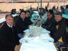 Pausa para o almoço na paróquia Santa Edwiges, no Caiuá.